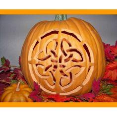 Pumpkin Carving 101. celtic design