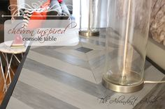Chevron Inspired DIY Console Table