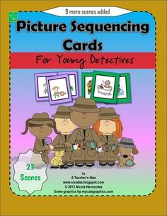 Picture Sequencing Cards for Young Detectives *9 more scenes added*