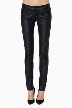 Quilted Skinny Jeans