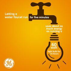 Conserving water = conserving energy. Think #energyefficient !