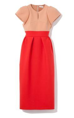 Del Pozo Two-Tone Sculpted Shoulder Dress by Delpozo for Preorder on Moda Operandi