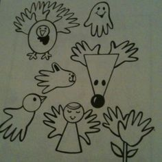 Holiday handprints
