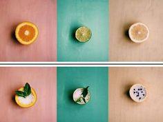 DIY air refresher; fruit, salt & herbs
