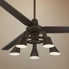 "60"" Casa Vieja™ Turbina Oil-Rubbed Bronze Ceiling Fan"
