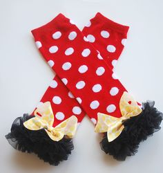 Minnie Mouse leg warmers - andjane.etsy.com
