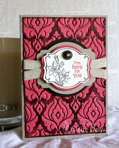 SU You're Lovely - Inked Embossing Folder Technique  (Mar 23, 2014)