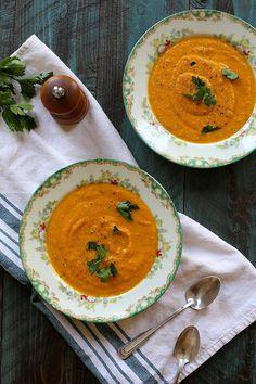 vegan carrot jalapeno soup