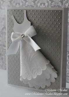 Wedding card using embossed fabric!