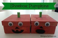 Shoebox Pumpkins | Life is Peachy