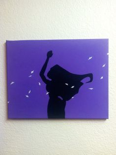 Disney Silhouette Painting - Pocahontas (Hand painted, no stencils, custom background colors, made to order)