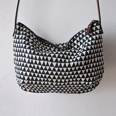 DAY BAG  triangle by bookhouathome on Etsy,