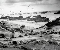 June 1944: American craft of all styles pictured at Omaha Beach, Normandy, during the first stages of the Allied invasion.