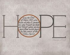 """…those who hope in me will not be disappointed."" (Isaiah 49:23, NIV)"