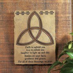 Trinity Knot with Irish Blessing Plaque - TerrysVillage.com