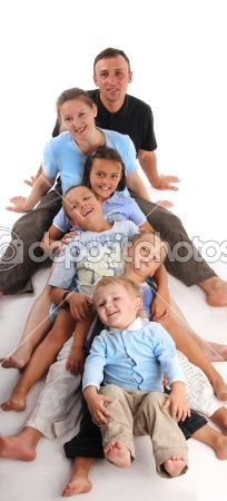 Happiness large family by Татьяна Гладских - Stock Photo