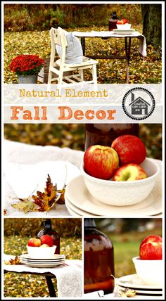 Natural Element Fall Decorating