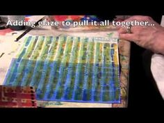 Building up layers with the Gelli Plate - YouTube