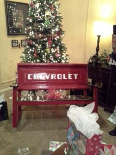 Chevy tailgate bench (1962 tailgate)