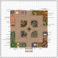 Garden Plan - 2013: New Rivendell Parterre