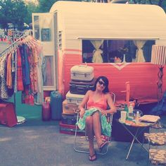 [oh so lovely vintage] shop owners blogging + selling from their 1956 trailer