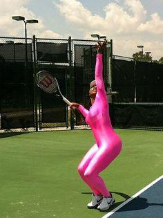 Serena Williams Pink Unitard #WimbledonWorthy