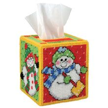 Snowbabies Tissue Box Cover