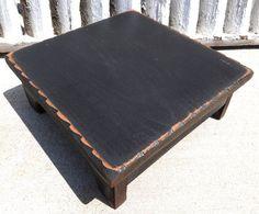 Black Wood Primitive Table Riser