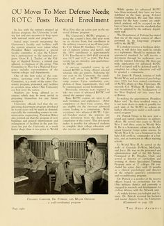 "The Ohio Alumnus, October 1950. ""OU Moves To Meet Defense Needs; ROTC Posts Record Enrollment."" :: Ohio University Archives"