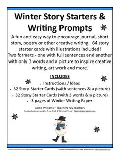 Winter Story Starters / Writing Prompts