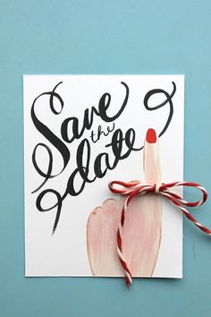 Save the date printable. invit, save the date party, dates, bow ties, lar built, card, diy, design, the house that lars built