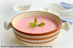 chilled strawberry soup - want to try this because we had a lot of chilled fruit soups on our last cruise and they were delicious