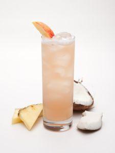 Island Breeze (1½ parts Malibu Coconut 1 part Pineapple Juice ½ part Cranberry Juice 1 part  Peach Schnapps)