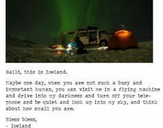 What a wonderful invitation from Iceland... :)