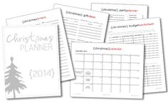 Christmas Planner to
