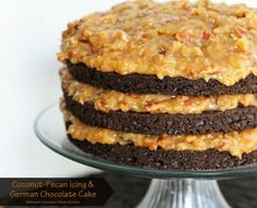 Melissa's Southern Style Kitchen: Coconut-Pecan Icing and German Chocolate Cake