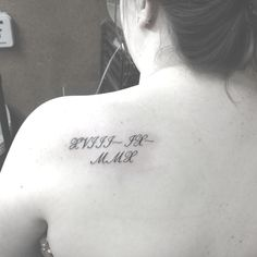 Girly Roman Numerals tattoo