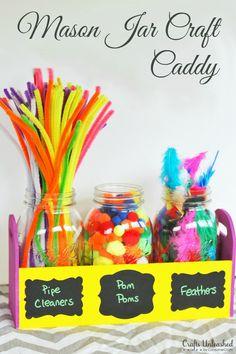 Mason Jar Craft Caddy in 3 Easy Steps