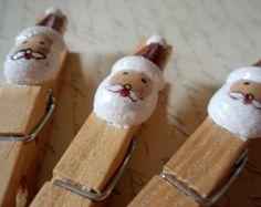 Clothespins  Santa Claus Clothes Pins to Hold by NotSoShabbyChic, $12.00