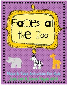 We're Going to the Zoo!!  This fun little packet has everything you need to create 5 popular zoo animal faces like a giraffe, elephant, lion, zebra...
