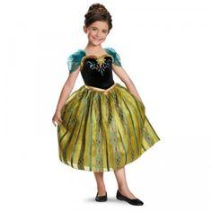 With this costume, Frozen fans can wear a dress just like Anna wore to Elsa's coronation ball in the film.