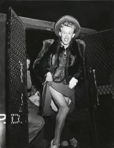 Weegee, Man arrested for cross-dressing, New York, ca. 1939 #newyork #history #furs