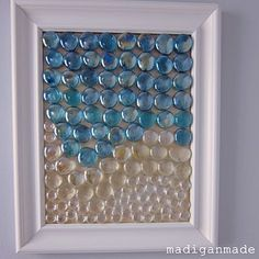 Beachy glass gem wall art {the water's edge} ~ Madigan Made { simple DIY ideas }