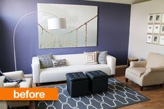 Before & After: Sophisticated and Dramatic Wainscoting Chris Loves Julia
