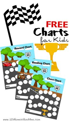FREE Disney Cars Inspired Charts for Kids #disney #cars #reading #freeprintable #disneykids