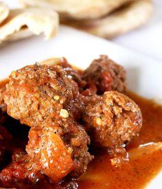 Spicy Beef Meatballs with Coriander, Cinnamon, Cumin, Red Chili Pepper