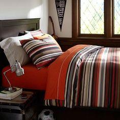 I love the Cliff Stripe Duvet Cover & Sham on pbteen.com