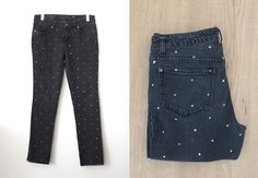 craft, polka dots, cloth, fashion diy, dot denim