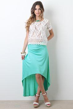 Cute mint green skirt!