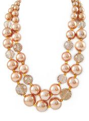 Champagne Pearl Necklace